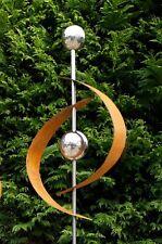 Gartenstecker Edelrost Edelstahl Kugel Metall Gartendeko Beetstecker ModernArt 2