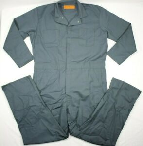 NOS Red Kap Men's Workwear Coveralls Action Back CT10SG5 Green 48 Long