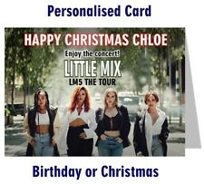 Personalised Little Mix Concert Tour 2019 Ticket Wallet Card Birthday Christmas