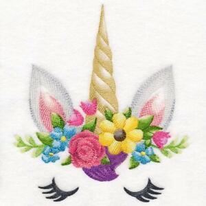 """Large Machine Embroidered Enchanting Unicorn Panel size  6.89"""" x 7.72"""""""