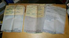 DENVER & SALT LAKE RLY CLEARANCE CARD & TRAIN ORDER CARBON COPIES JAN/MARCH 1946