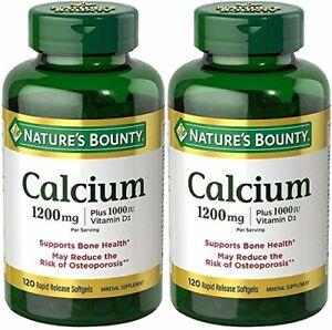 Nature's Bounty Calcium 1200 Mg. Plus Vitamin D3, 240 Softgels (2 X 120 Count
