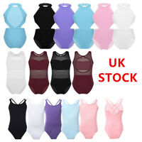 UK Kid Girls Ballet Dance Leotards Ballerina Bodysuit Jumpsuit Dancewear Costume