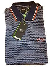 Hugo Boss Men's Firenze Cotton Polo Shirt - Slim Fit - Navy/Orange Large