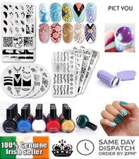Nail Art Stamping Kit Nail Plates Nail Clear Stamper Scraper Nail Latex Polish
