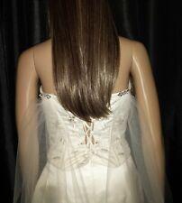 5d089f15a6 Cape drape Boho Ivory wedding veil 90