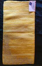 "35""x35"" Yellow Western Show Pad With Rhinestones."