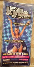 Promotional Flyer For 100% Kylie Live In Concert Tribute To Kylie Minogue