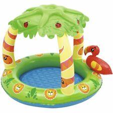 Bestway Planschbecken mit Palmenschirm UPF 50+ Kinderpool Babypool Schwimmbad
