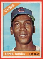 1966 Topps #110 Ernie Banks EX-EXMINT+ HOF Chicago Cubs FREE SHIPPING