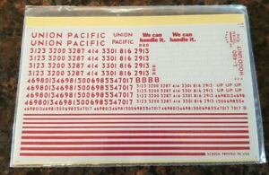 Herald King HO Decals UP UNION PACIFIC L-480 Hood Unit Decals Sealed