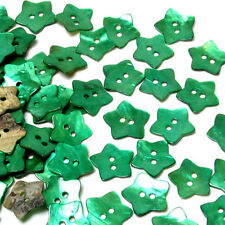 B565 Green Mother of Pearl Star Shell ButtonsSewing Craft Art DIY 14.5mm 80pcs