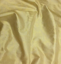 "Printed Silk DUPIONI Fabric Gold Scroll Damask 18""x27"" remnant"