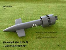 Henschel HS 315 a quote altimetriche Gleitbombe 1/72 Bird models resinbausatz/RESIN KIT