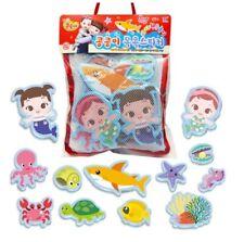 Kongsuni Bath Play Friends of The Sea Soft Sticker Toy 17pcs EVA For Baby Kids