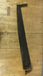 120 Cm Antique 2 Man Crosscut Lumberjack Saw Mathieson And Sons Glasgow Man Cave