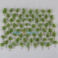 100Pcs N Z Scale Mini Green Model Trees For Garden Park Street Layout
