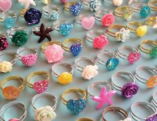 ☆ 20 x kids rings bundle ☆ children's jewellery gifts party bag favor girls