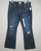 Aeropostale Hailey Flare Distressed Jeans Low Rise Slim Fit size 11/12 New