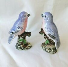 Vintage Ucago Blue Bird  Ceramics Bird  Salt and Pepper Shakers