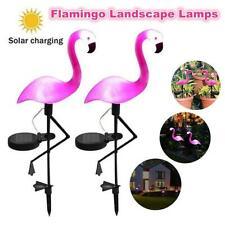 2x LED Flamingo Solar Lights Lantern Waterproof Garden Lamp for Lawn Yard Patio