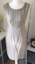Principles Beige Jewell Detail Lined Dress Size 12