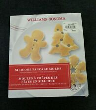 Williams Sonoma Silicone Pancake Molds snowflake reindeer pine tree holiday NEW