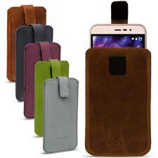 Leder Tasche für Medion Life Smartphone Handy Hülle Cover Pull Tab Lederhülle