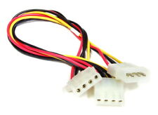 Molex 4-Pin Female to Female/Male Connector Power Y Splitter Cable / Strom-Kabel
