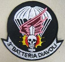 "Toppa/Patch ""3° BTR. DIAVOLI - 185° RGT. ARTIGLIERIA PARACADUTISTI FOLGORE"""