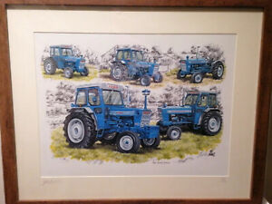 Ford Force Tractors A4 Picture Print Framed Celebrates History Ltd edition 1/250
