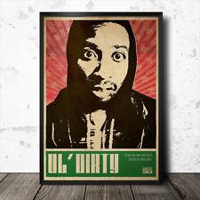 Ol' Dirty Bastard Hip Hop Art Poster Rap Music Wu Tang Clan NWA ODB