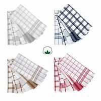 Set of 5 - Checkered Cotton Kitchen Cleanning Tea Towels 50x70cm IDC Homewares
