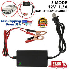 New 12V Portable Auto Car Battery Charger Trickle Maintainer Boat Motorcycle