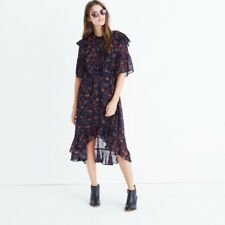 Madewell NWT ruffle midi dress in climbing vine, h2551, 4