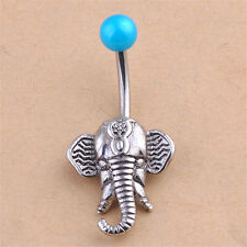 Elephant Navel Belly Button Rings Steel Belly Bars Piercing Body Jewelry BDAU