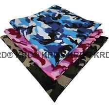 100% Cotton Camo Camouflage Bandana Design Bandanna Cow Boy Girl Biker Scarf UK