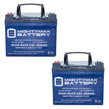 Mighty Max 12V 35AH GEL Replacement Battery for U1 Wheelchair - 2 Pack