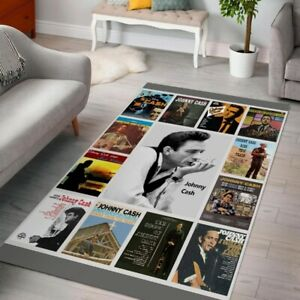 Anniversary Johnny Cash Album music Gift for fan Area Rug Any room