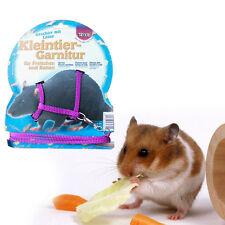 Geschirr Leine Leash Lead Hamster kleine Hund Katze Hasen Kaninchen Ratte Maus