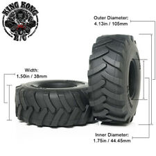"""105mm 1.75"""" Tires (2pcs) for Tamiya 1/14 R/C Tractor Trailer/Truck 1.75"""" Wheel"""