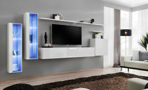 Shift 11- contemporary entertainment wall units / living room wall unit