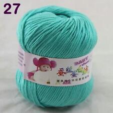 Sale 1ball 50g Baby Cashmere Silk Wool Children hand knitting Yarn 27 Teal