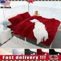Faux Fur Blanket Long Pile Throw Sofa Bed Super Soft Warm Shaggy Cover Luxury US