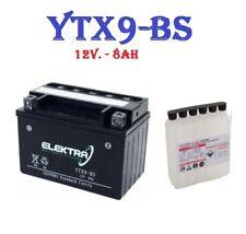 BATTERIA ELEKTRA YTX9 - BS = YUASA YTX9-BS YAMAHA X-MAX 125 250 X-CITY 125 250
