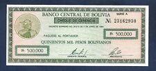 (DN) Bolivia 500000 Pesos 1984 P-189 SC UNC