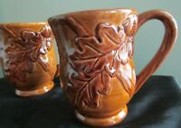 2 Cracker Barrel Bountiful Harvest Ceramic Coffee Mug Cup