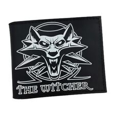 The Witcher 3 Wild Hunt Wallet Wolf Medallion Black Leather Photo Cards Notes