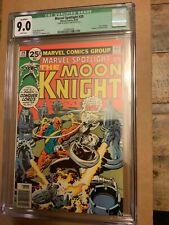 CGC 9.0 Qualified MARVEL SPOTLIGHT 29 2D Solo MOON KNIGHT WHITE PAGES