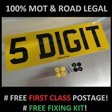SHORT 5 DIGIT 330mm x 111mm REAR CAR NUMBER PLATE  100% MOT & ROAD LEGAL